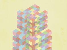 Simple volumetric pattern by DE BOCK Arnaud