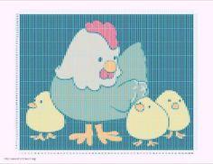 Patrones de baberos en punto de cruz para bebés :: Gráficos en ...