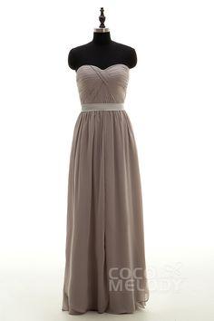 Sheath-Column+Sweetheart+Natural+Floor+Length+Chiffon+Sleeveless+Side+Zipper+Convertible+Bridesmaid+Dress+Pleating+Sashes+LD4014