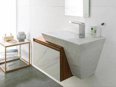 Conjunto Zen Nogal Warm Blanco Athenas 87,5x40x47 cm