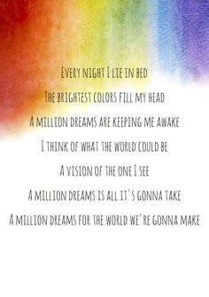 A million dreams- the greatest showman lyrics quotes The Greatest Showman, Lyric Quotes, Movie Quotes, Qoutes, Dance Quotes, Music Lyrics, Good Song Lyrics, Broadway Lyrics, Broadway Quotes