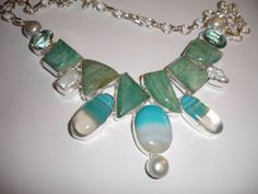 Botswana Agate Statement Necklace Bubble $45.00