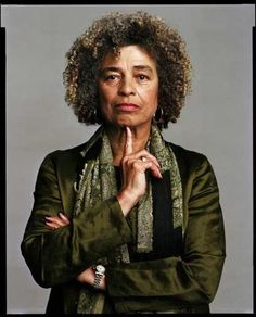 Angela Davis (b.1944) is an American political activist, scholar, author, and lecturer, she gained prominence as an activist and radical in the 1960s. A member of both the Black Panther Party and the Communist Party USA, then California Gov. Reagan requested she be barred from teaching at state universities. She was put on trial and acquitted of suspected involvement in the 1970 abduction and murder of a judge. Openly gay, a prison-rights activist, she is a retired professor at UCSC.