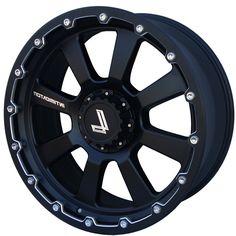 LENSO INTIMIDATOR 8 MATT BLACK CHAMPHER EDGE alloy wheels with stunning look for 4 studd wheels in MATT BLACK CHAMPHER EDGE finish with 22 inch rim size