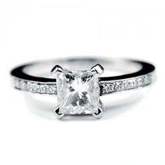Princess cut engagement ring wedding-inspiration
