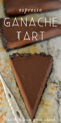 My Espresso Ganache Tart is a rich and decadent tart with a deep flavor and silky texture. It's truffle, meets fudge, meets mousse, with a jolt of caffeine! #easy #recipe #dessert #chocolate #coffee #ganache