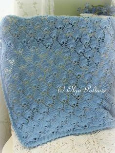 Blue Lace Baby deken gehaakt patroon zomer door olgascrochetfrenzy