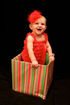 Adorable miss hallie cook being the cutest christmas present ever!