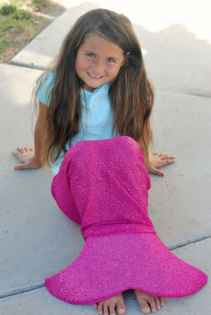 Over and over this summer I've had little girl's mermaid tails on my mind. I've…
