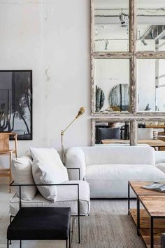 A mix of mid-century modern, bohemian, and industrial interior style. Home and… - A mix of mid-century modern, bohemian, and industrial interior style. Home and. Interior Decorating Styles, Interior Styling, Decorating Games, Modern Interior, Simple Interior, Kitchen Interior, Home Design, Living Room Decor, Living Spaces