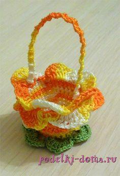 Crochet Basket Easter Gifts 68 Ideas For 2019 Crochet Bowl, Quick Crochet, Crochet Bunny, Crochet Flowers, Holiday Crochet, Crochet Gifts, Easter Baskets, Holiday Baskets, Egg Basket