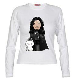 Camiseta Kokeshi Jon Nieve de Juego de Tronos
