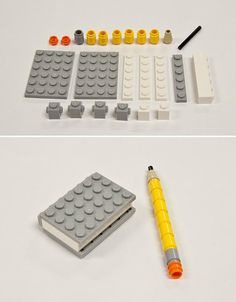 Make a Lego pencil/notebook.