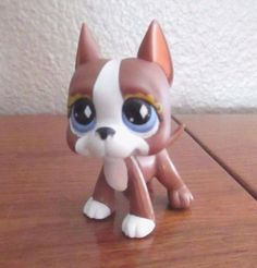 Littlest Pet Shop LPS Brown and White Great Dane #588 #Hasbro