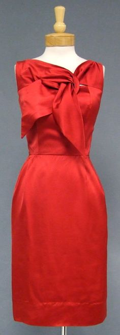 Vintageous, LLC - Cherry Red Satin Don Loper 1950's Cocktail Dress, $265.00 (http://www.vintageous.com/cherry-red-satin-don-loper-1950s-cocktail-dress/)