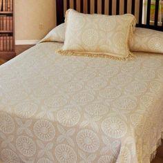 Bedding Fashion Style Vintage Bedspread Italian Brocade Queen Retro Bedspread Brocade