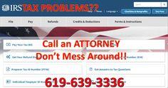 TAX problems - San Diego tax attorney