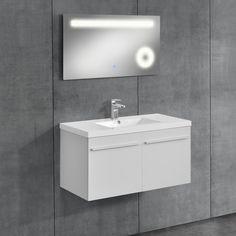 neu.haus] Badezimmerschrank mit Waschbecken+Spiegel | [neu.haus ...