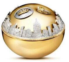 "World's most expensive parfume... It's called ""Golden Delicious"" and costs $1,000,000. Its spectacular bottle, made by jeweler Martin Katz, is made of gold and contains 2,700 diamonds."