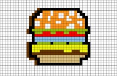 When you're hungry there is nothing quite like an 8bit burger. #hamburger #food #8bit #burgertime # arcade