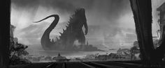 Matt Allsopp has recently released 17 new images of concept art as well as unused storyboards from Godzilla. Hit to jump to see concepts of Godzilla, the M.U.T.O. and the two kaiju confronting each other in the city.