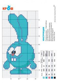 Схема вышивания крестом - Смешарик Крош