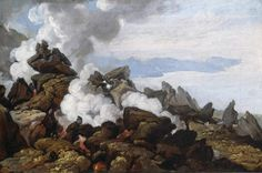 Franz Ludwig Catel - Crater of Vesuvius. 1812 Painting - oil on canvas Hamburger Kunsthalle A4 Poster, Poster Prints, Vintage Artwork, Oil On Canvas, Fine Art, Painting, Royal Mail, Beautiful, Hamburger