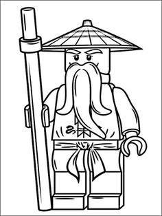 Kostenlose Ausmalb… Coloring page: Lego Ninjago Sensei Wu. Free coloring pages in a variety of topics, for printing and coloring. Ninjago Coloring Pages, Cartoon Coloring Pages, Free Coloring Pages, Coloring For Kids, Coloring Book, Printable Coloring, Lego Ninjago Sensei Wu, Lego Ninjago Lloyd, Ninjago Party