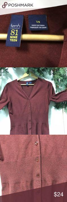 Cardigan sweater Burgundy cardigan sweater Kersh Sweaters Cardigans
