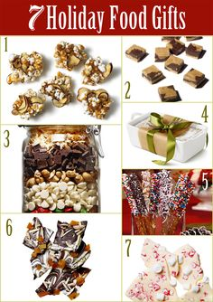 7 Holiday Food Gifts + Recipes! REPIN to save in your recipe board!