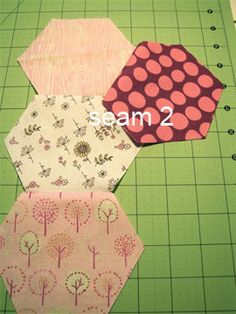 Sewing Hexagons without Marking - Tallgrass Prairie Studio.  Don't know if I'd use this, but good reference.