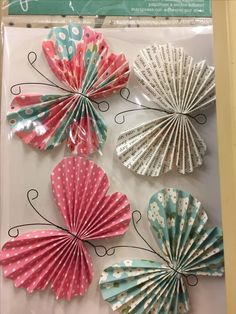 How to make origami paper butterfly .- Wie man Papierschmetterling Origami bastelt How to make origami paper butterfly # crafts butterfly - Paper Butterfly Crafts, Origami Butterfly, Paper Butterflies, Paper Flowers Diy, Paper Rosettes, Butterfly Mobile, Paper Pinwheels, Butterfly Room, Kids Crafts