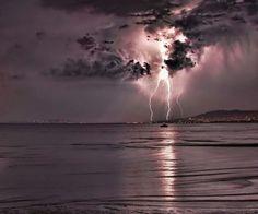 Thunderlightning at the seaside