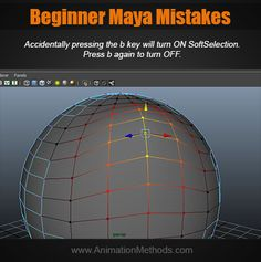 Soft selection Modeling Tips, Turn Off, Maya, The Selection, Learning, Studying, Teaching, Maya Civilization, Onderwijs