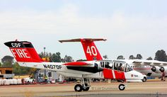 "(#501) North American Rockwell OV-10 ""Bronco"" (N407DF) Cal Fire, Air Tactical"
