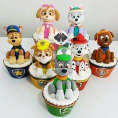Paw Patrol Cupcake Toppers, Paw Patrol Cupcakes, Bolo Do Paw Patrol, Paw Patrol Cake, Paw Patrol Party, Baby Birthday Cakes, 2nd Birthday, Paw Patrol Birthday Theme, Paw Patrol Costume