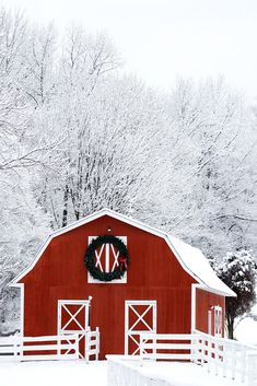 A simply beautiful winter scene captures the beauty of a red barn against newly fallen snow. Purchase this art from Country Mom City Mom's Etsy shop. Snow art and snow scenes for your winter retreat. Winter Landscape, Landscape Art, Red Barn Painting, Red Wall Decor, Beautiful Winter Scenes, Winter Szenen, Shops, Snow Art, Farm Art