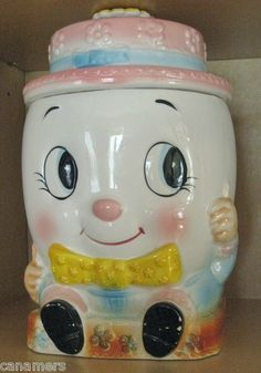 ADORABLE Vintage Humpty Dumpty Cookie Jar