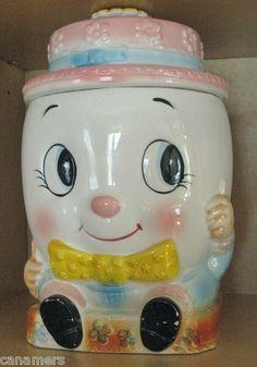 ADORABLE Vintage Humpty Dumpty Cookie Jar