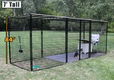 8'x24'x7' Ultimate kennel has enough room for your pet to move around without feeling kenneled in!