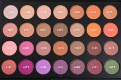 Here are the individual shadow shades for you :) jaclyn hill morphe favorites palette. swatches and review