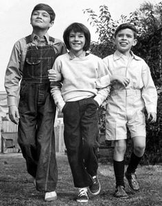 "The young stars of ""To Kill a Mockingbird"" (1962): Phillip Alford, Mary Badham and John Megna."
