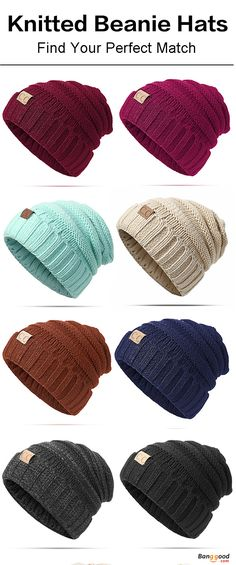 Women Men Warm Soft Knitted Hat Autumn Winter Warm Outdoor Solid Skullies Beanies Cap. Womens fashion, mens fashion, perfect for fall and winter. One Size(Good Elastic), 12 colors. Have a look!