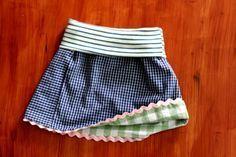 Sommerkleid und Wenderock aus Männerhemd