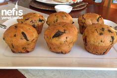 Domatesli Fesleğenli Muffin Ekmekler