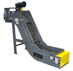 The Model 630 Hinged Steel Belt Conveyor is the full profile unit in the Titan complete line of hinged steel belt conveyors.
