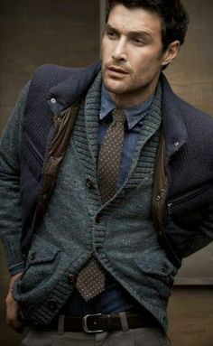 Great look with the sleeveless vest over the sweater