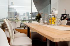 The Cameo Chair in Natural white combined beautifully with the design classic Panton Chair. www.valiant.com.au  Contact us for all your furniture and event hire needs !