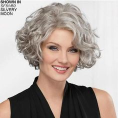 Meryl WhisperLite® Wig by Paula Young® is an elegant mid-length wig with face-framing layers of loose curls. Shop our selection of wigs, hair pieces, and more at PaulaYoung.com. #shortcurlyhairstyles Short Hairstyles For Thick Hair, Layered Hairstyles, Curly Bob Hairstyles, Short Hair Cuts, Simple Hairstyles, Long Haircuts, 1950s Hairstyles, Ethnic Hairstyles, Hairstyles 2018