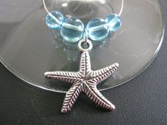 Set of Four Seashell Wine Glass Charms with by AlmostFriday, $10.00